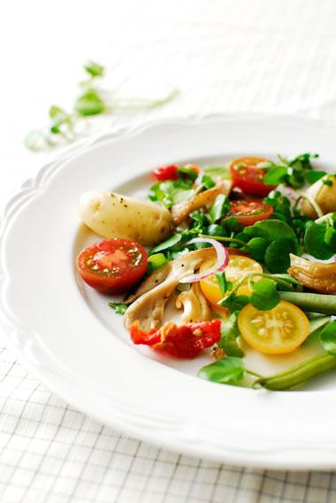 studio kuchnia | Zdrowa sałatka z boczniakami