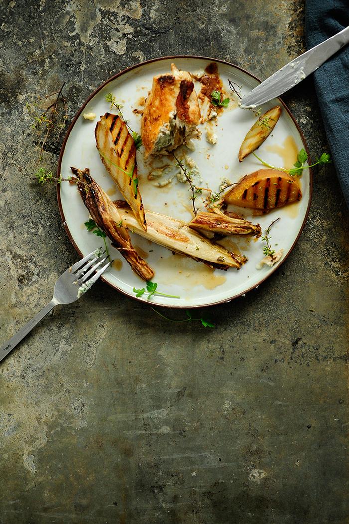 Studio Kuchnia | Roladki drobiowe z gruszkami i serem pleśniowym