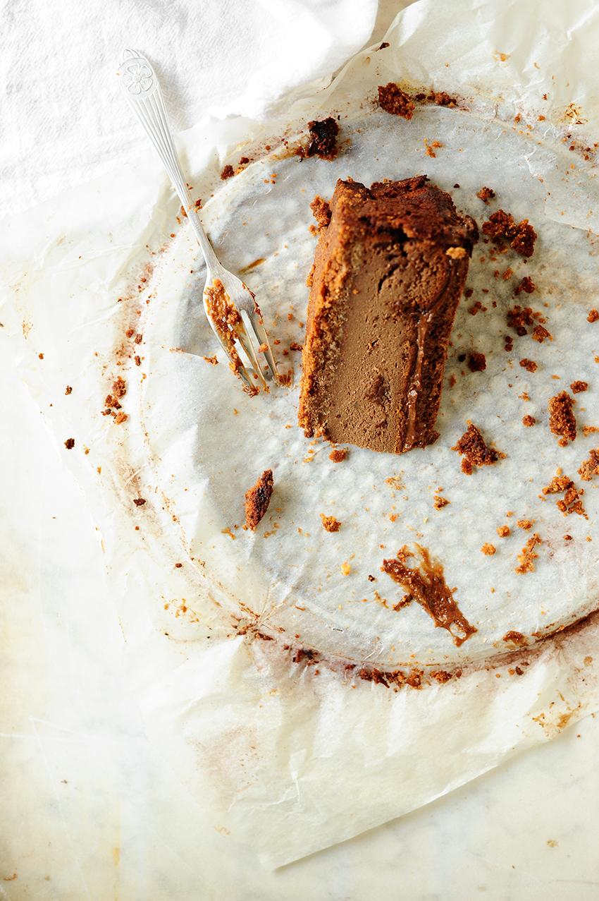 serving dumplings | chocolate-ricotta-cheesecake