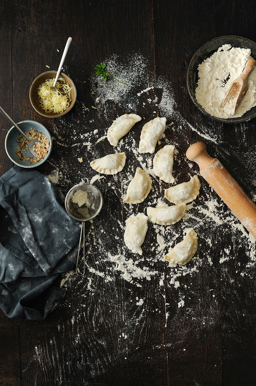 studio kuchnia | Pierogi z trzema serami i szpinakiem
