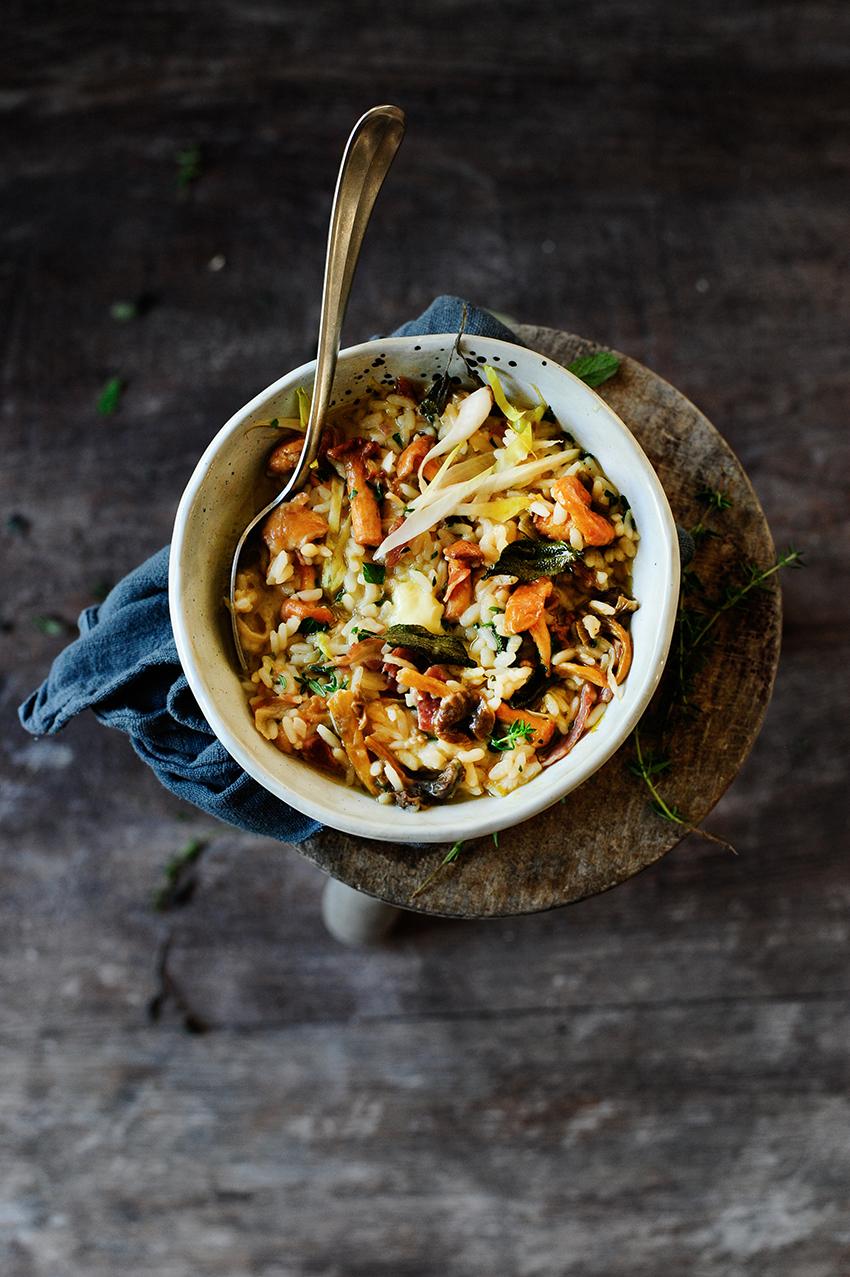 studio kuchnia   jedwabiste risotto z cykorią i grzybami