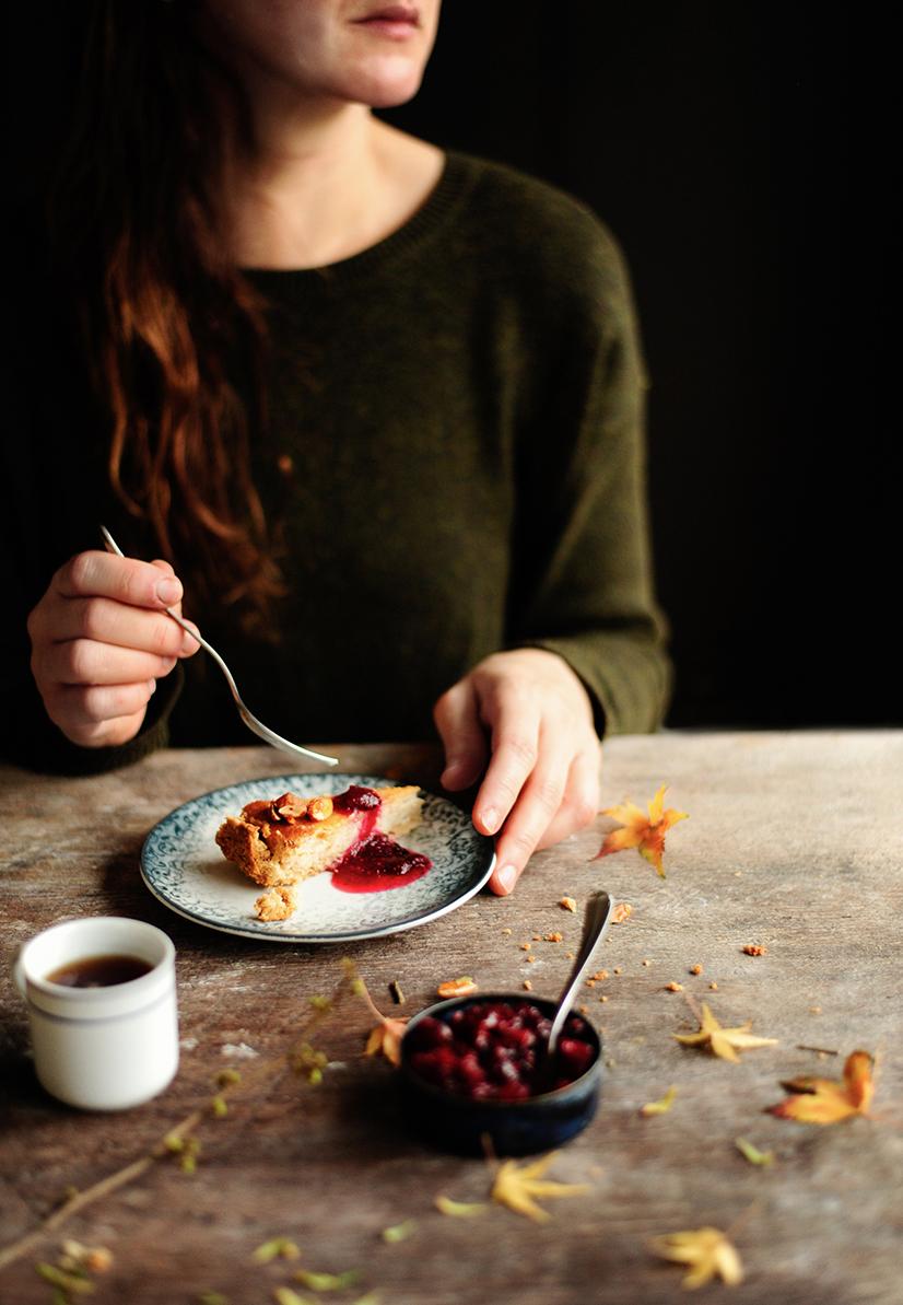 sering dumplings | Vegan baked cheesecake