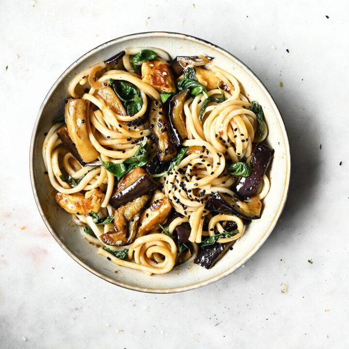 Eggplant and Halloumi Stir-Fry