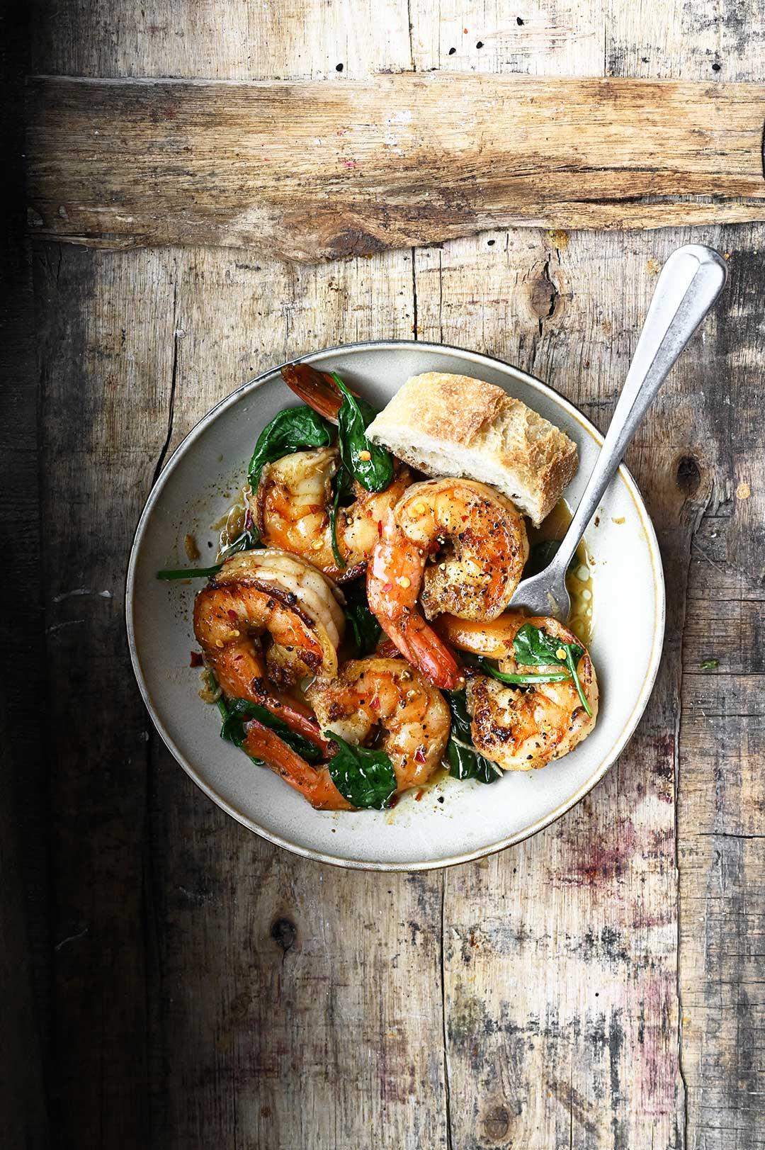 serving dumplings | Garlic Butter Sautéed Shrimp