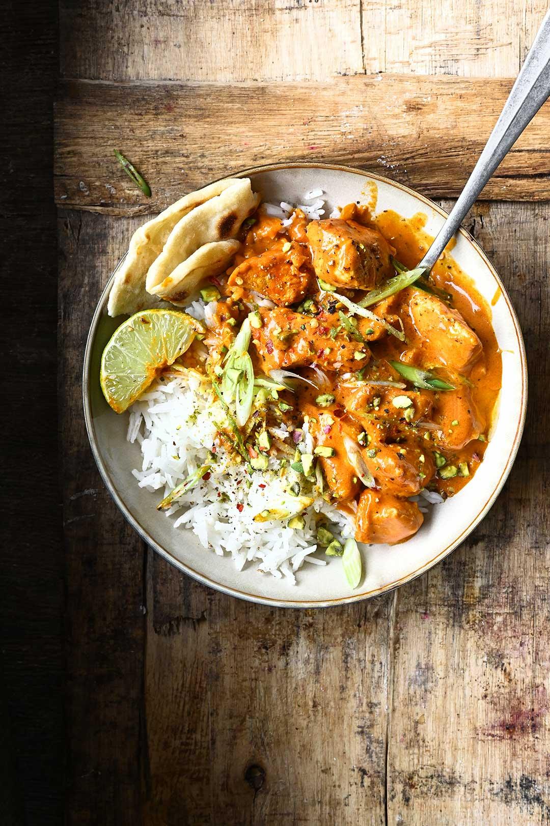serving dumplings   Indiase Butter Chicken