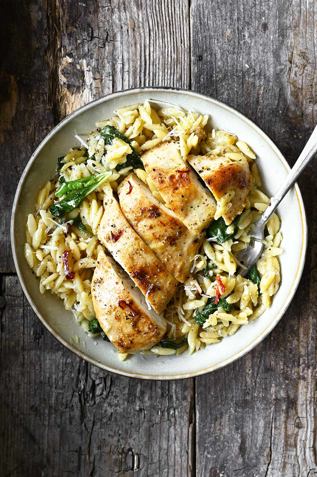 parmesan chicken with orzo