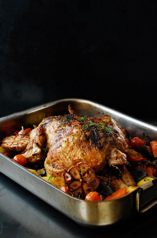 studio kuchnia | Złoty kurczak z warzywami