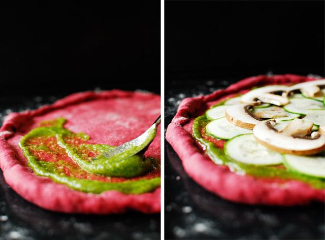 studio kuchnia | Pizza na buraczanym spodzie