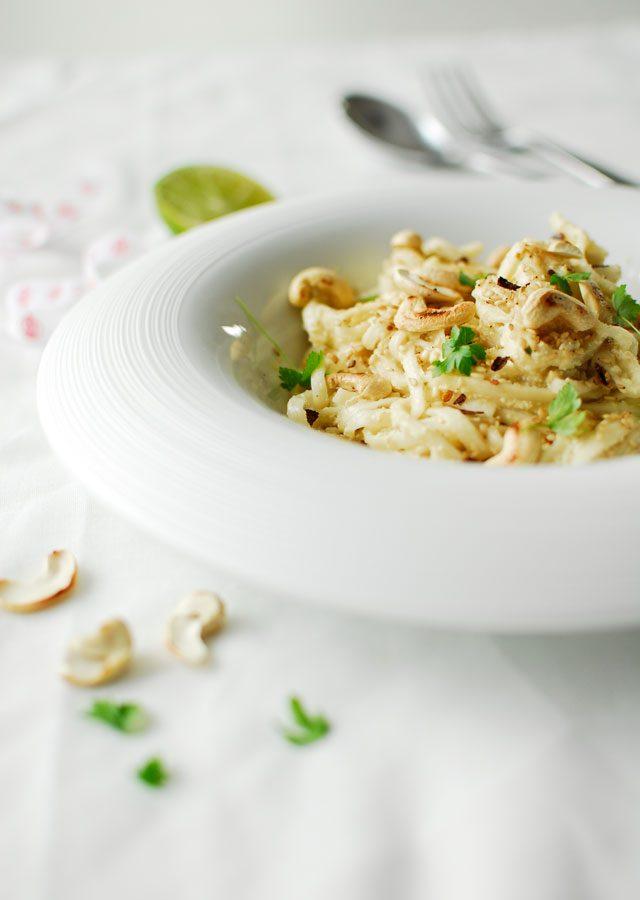Nudle z pesto z tofu
