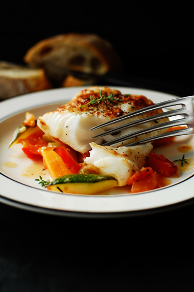 studio kuchnia | Dorsz zapiekany z warzywami sródziemnomorskimi