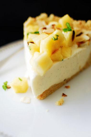 studio kuchnia | Jogurtowy tort panna cotta z ananasem