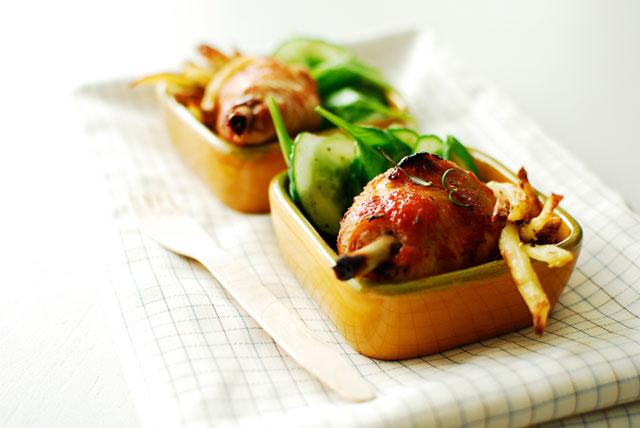 studio kuchnia | Miodowe udka z frytkami