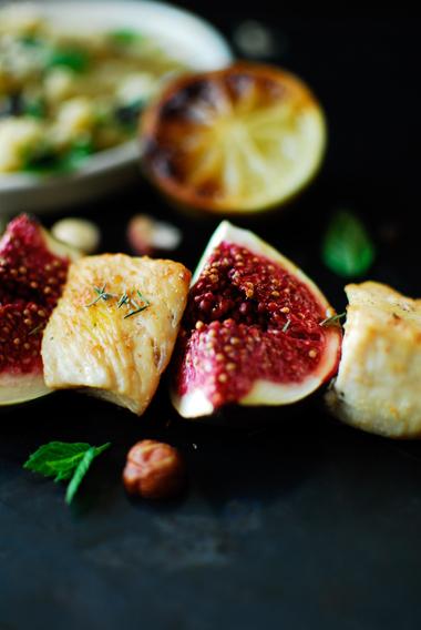 Szaszłyki z kurczaka z figami