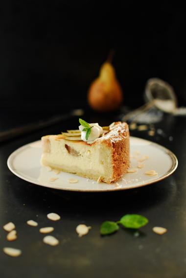 studio kuchnia | Francuski sernik z gruszkami
