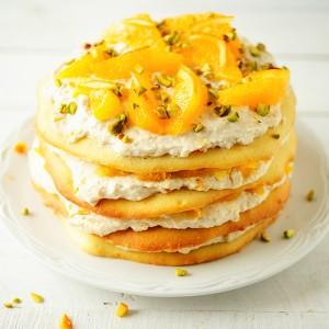 Soczysty tort pomarańczowy