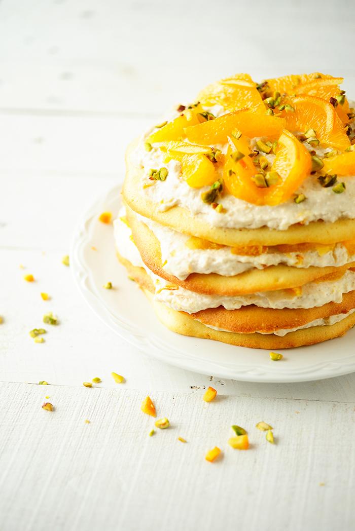 studio kuchnia | Soczysty tort pomarańczowy