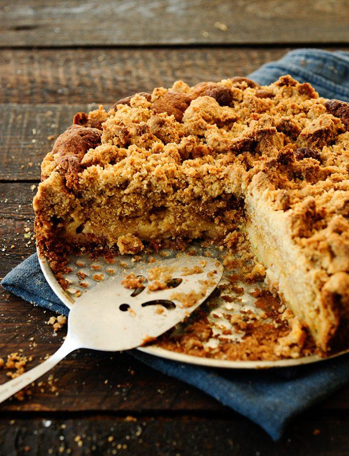 Ciasto rabarbarowe z mnóstwem kruszonki