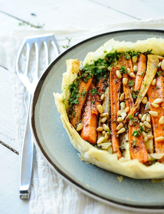 Tarta z karmelizowaną marchewką