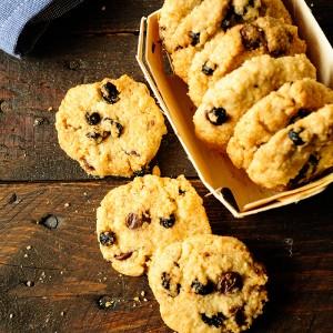 Ciasteczka owsiane z borówkami