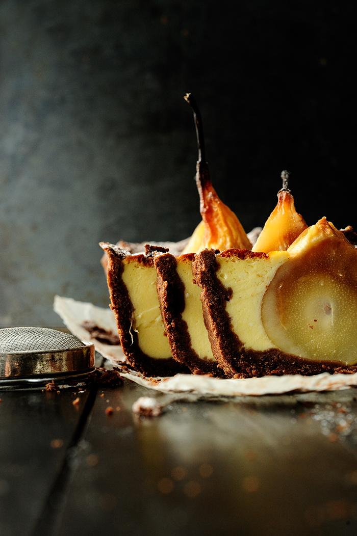 Studio Kuchnia |Kruche ciasto z zatopionymi gruszkami