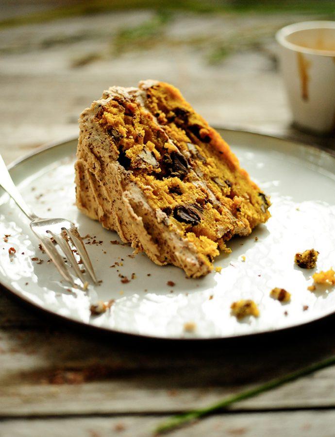 Tort dyniowy z kremem mokka