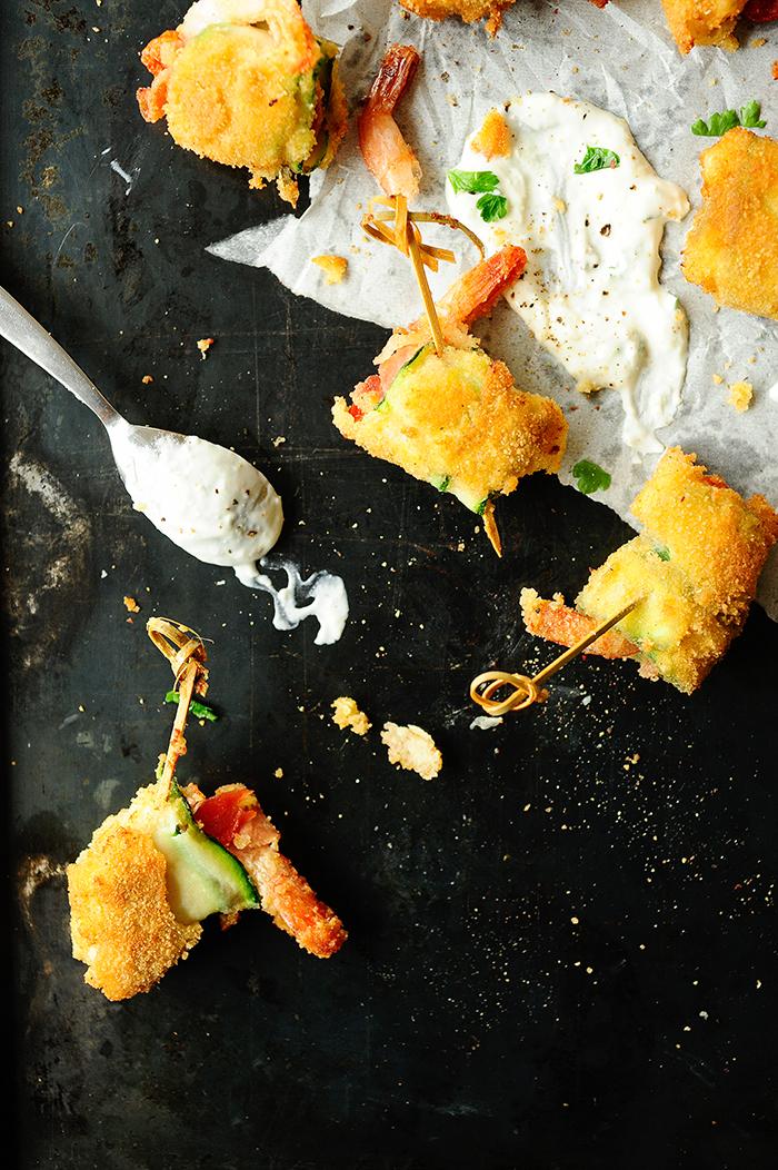 studio kuchnia | Panierowane roladki z cukinii z krewetkami