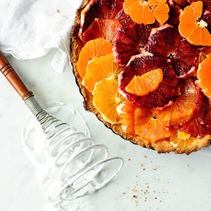 Citrus tart with meringue