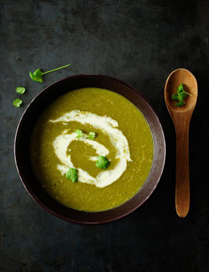 Leek and rice soup