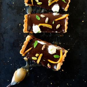 Mazurek karmelowy z czekoladą