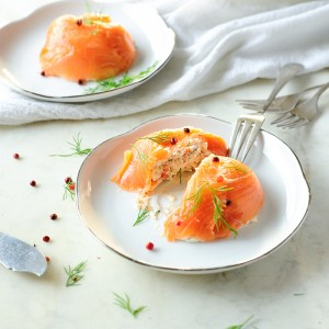 Salmon mousse with cottage cheese