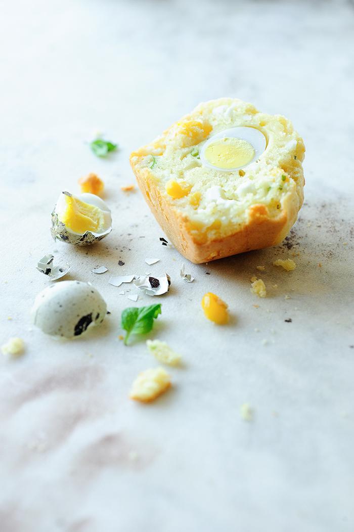 studio kuchnia | Muffinki wielkanocne z kukurydzą i fetą