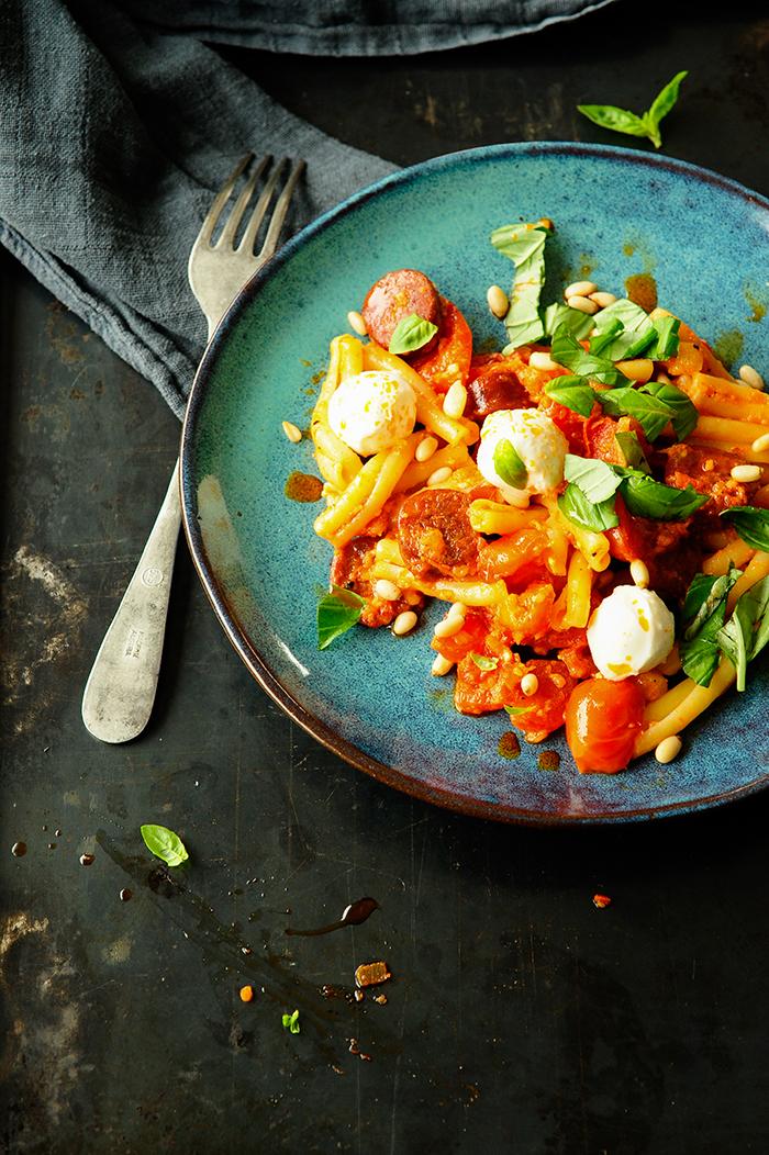 studio kuchnia |Makaron z chorizo w sosie paprykowym
