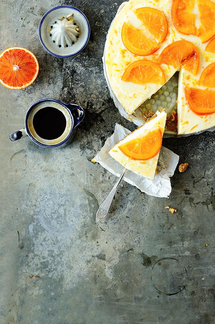 serving dumplings | Sinaasappel-yoghurttaart