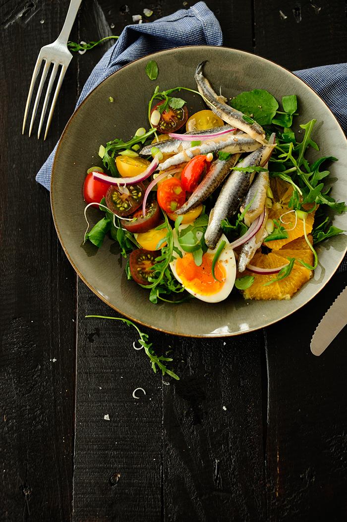 studio kuchnia | Sałatka z anchois i pomarańczy