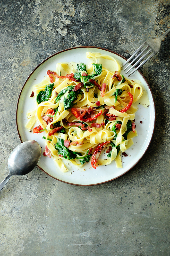 Carbonara with mascarpone | Recipes: fast dishes, pasta ...