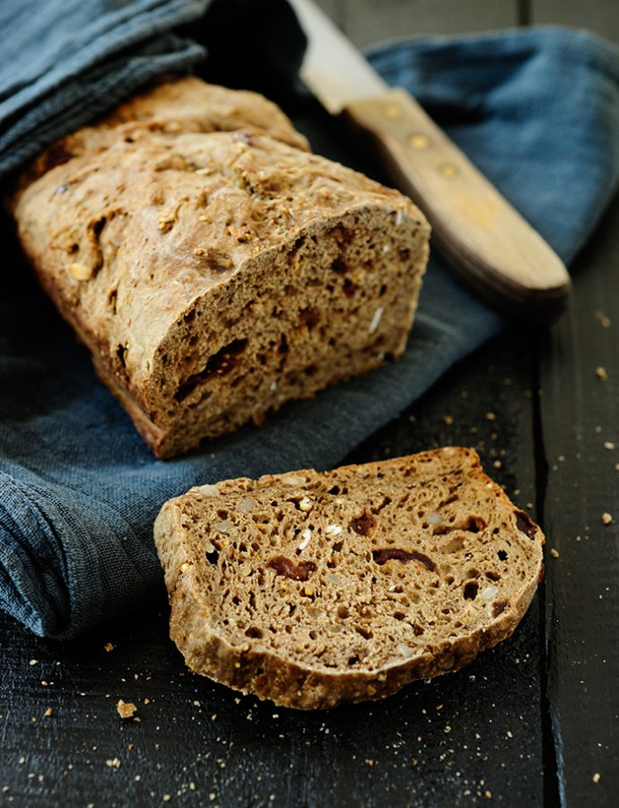 Multigrain bread with dried cranberries