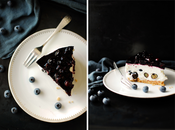 serving dumplings | Blueberry cheesecake