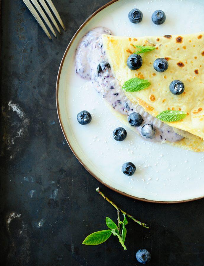Pannenkoeken met blauwbessen