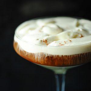 Ice coffee met rum