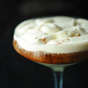 Ice coffee with rum
