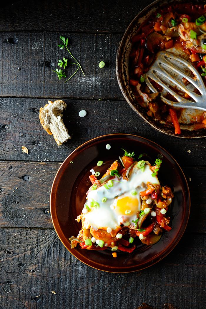 serving dumplings | Vegetables stew with eggs