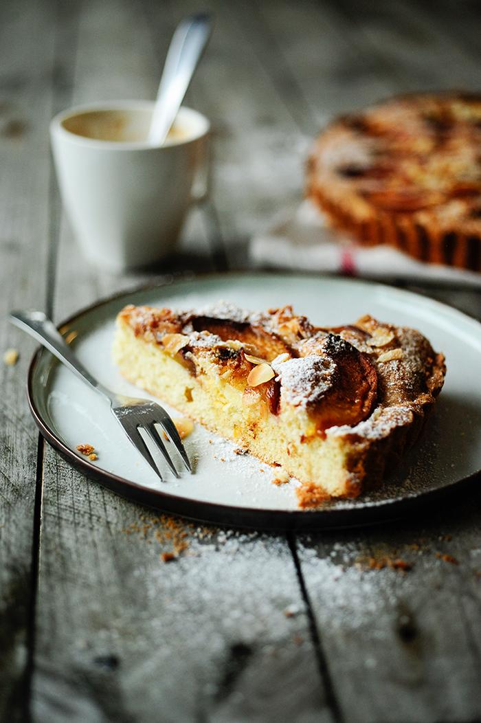 serving dumplings | Ginger tart with nectarines