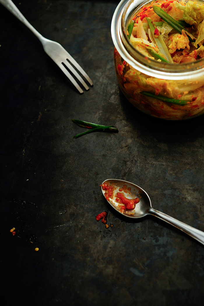 serving dumplings   kimchi