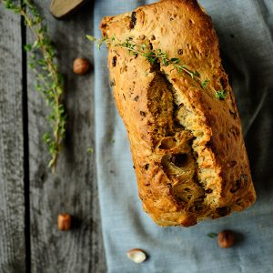 Mushroom hazelnut bread