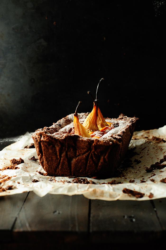 serving dumplings | chocoladecake-met-verzonken-peren-en-mascarpone