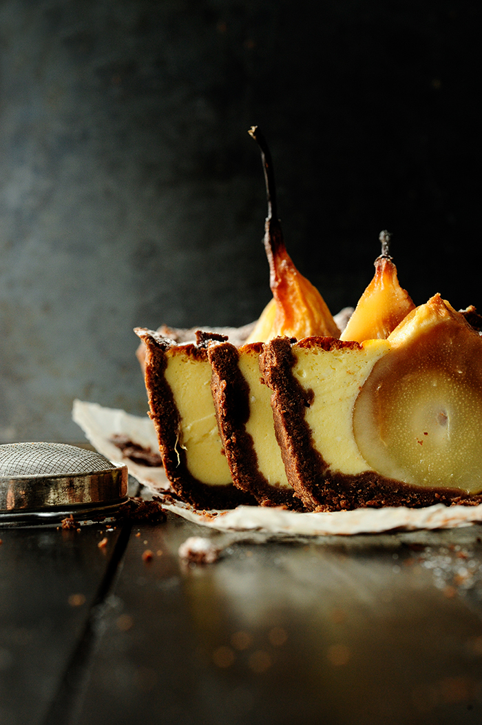 serving dumplings | chocolate-cake-with-sunken-pears-and-mascarpone
