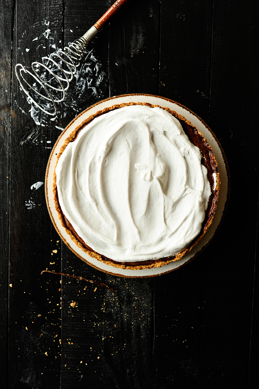 serving dumplings | chocolate-pumpkin-pie-with-coconut-whipped-cream