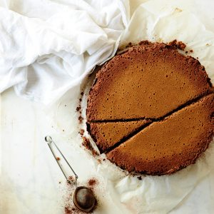 Chocolate ricotta cheesecake
