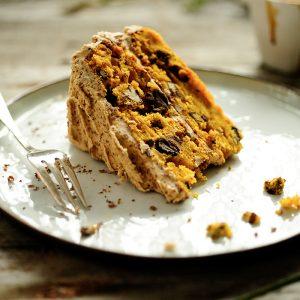 Pumpkin-mocha layer cake
