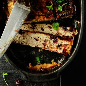 Turkey and cranberry terrine with whiskey